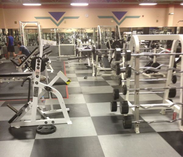 The gym before the New Year's crowd